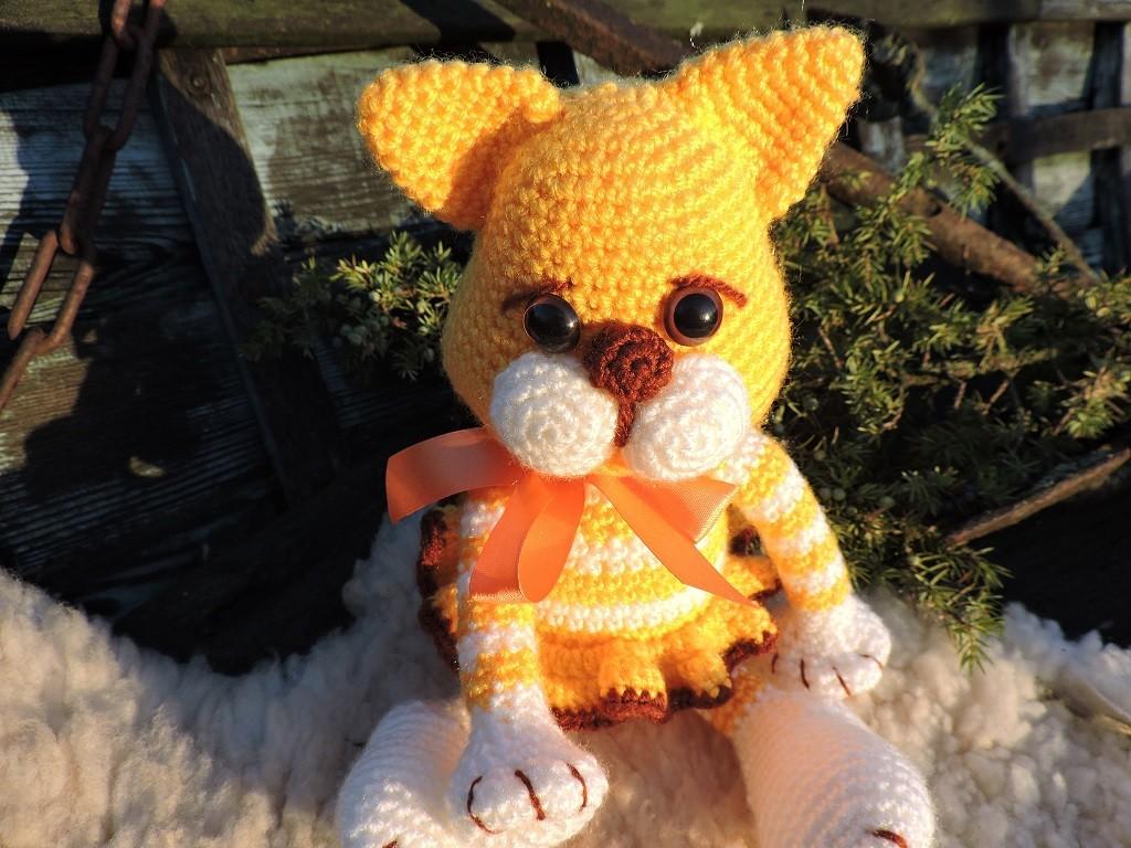 Kass Kitty - Amigurumi heegeldatud mänguasja juhend
