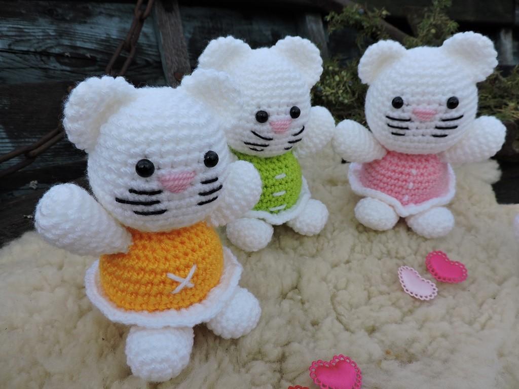 Kassikesed - Amigurumi heegeldatud mänguasja juhend
